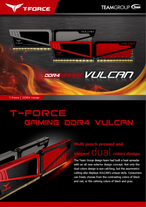 VULCAN DDR4 overclocking desktop memory modules│TEAMGROUP