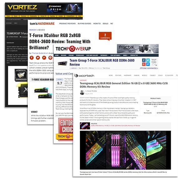 XCALIBUR RGB DDR4 overclocking desktop memory modules│TEAMGROUP