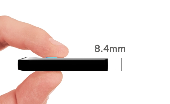 Fits comfortable between thumb and finger