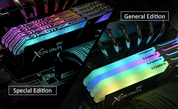 T-FORCE XCALIBUR Leading the RGB Memory
