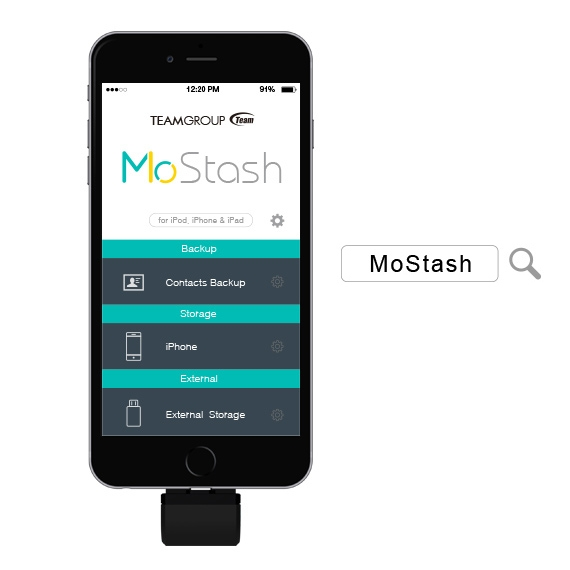 Download the exclusive free MoStash app for more functions